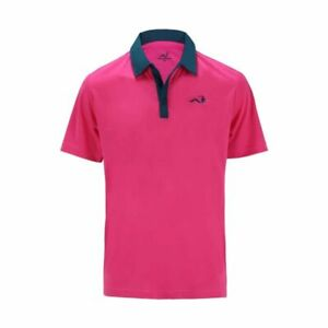 Woodworm-Solid-Tech-Golf-Polo-Shirt-Pink-Blue