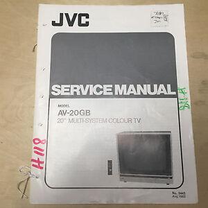 jvc service manual for the av 20gb color tv repair ebay rh ebay com jvc l a110 turntable repair manual jvc camcorder repair manual