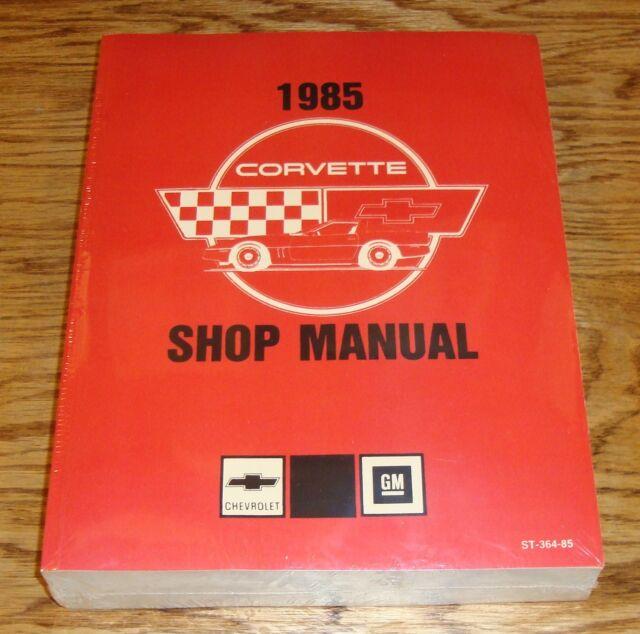 1985 Chevrolet Corvette Service Shop Manual 85 Chevy