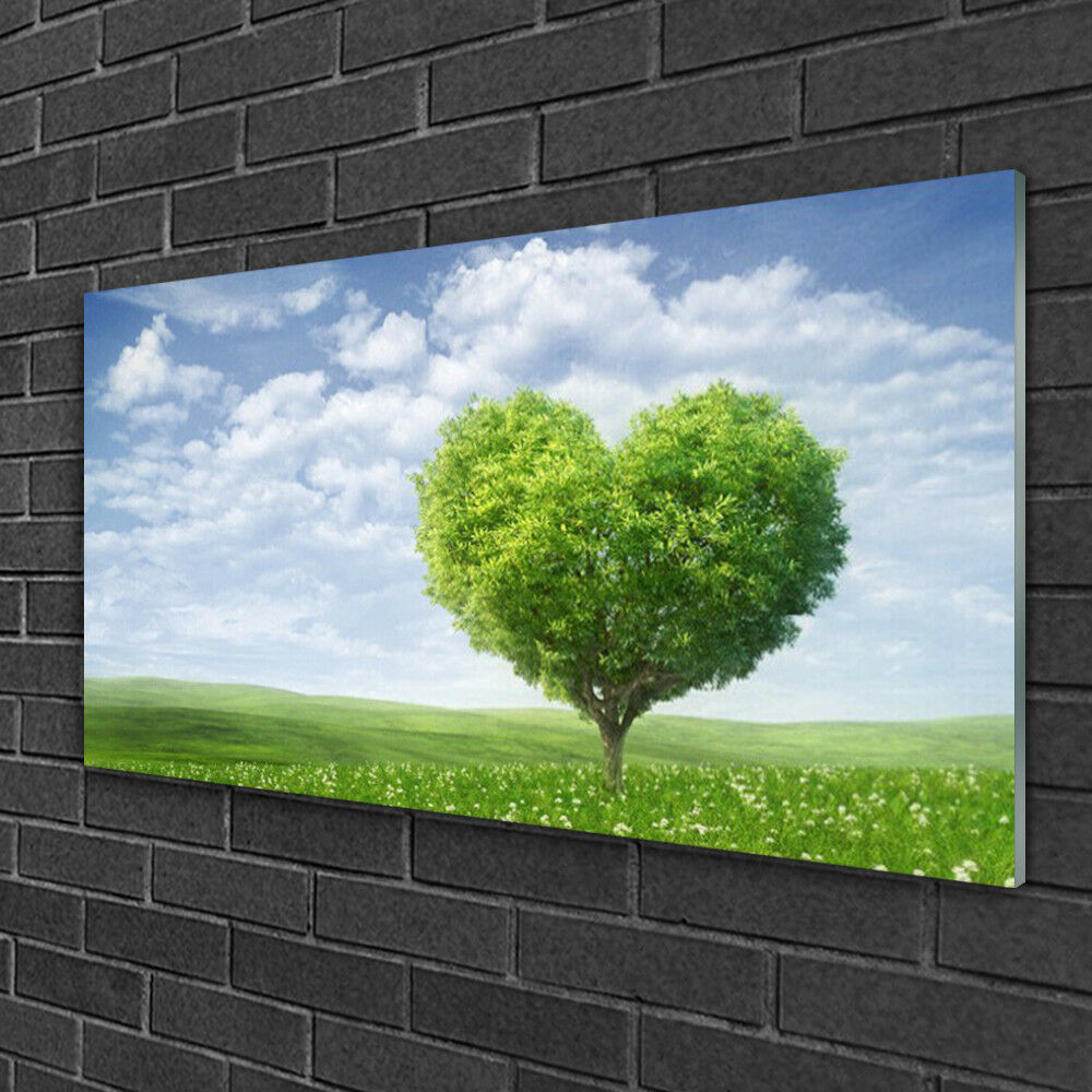 Glass print Wall art 100x50 Image Picture Tree Nature