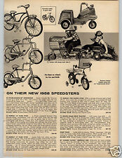 1958 PAPER AD Murray Fire Patrol Cycle Tractor Bike Bicycle Rollfast Border