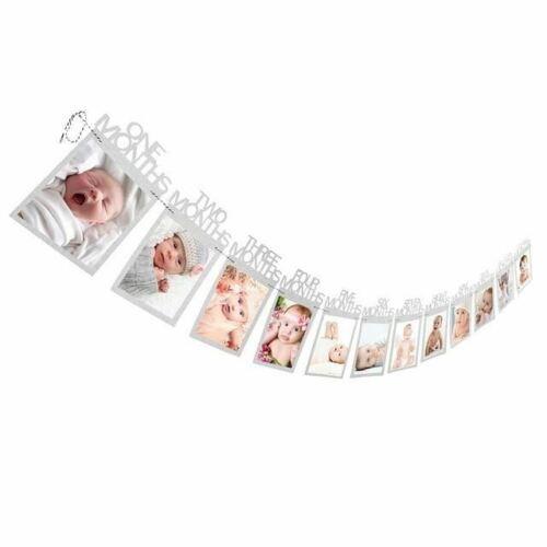 Baby 1 año guirnalda chicas jóvenes marcos 1-12 meses para fotos para time