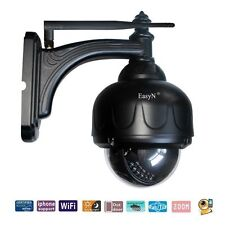 HOT PTZ Wireless Wifi IP Camera 65ft IR 2-way Audio Zoom Security Set Wide Angle