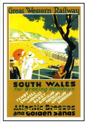 2 South Wales Railway Vintage Old Picture Oldschool Poster A3 A4 New