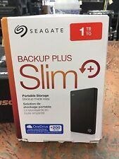 Seagate Backup Plus Slim 1TB External USB 3.0 2.0 Portable Hard Drive Black