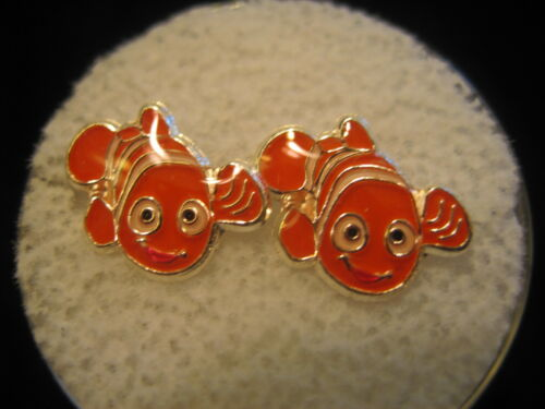 NEMO Screw Back Child Character Earring in Silver COVERED in Acrylic