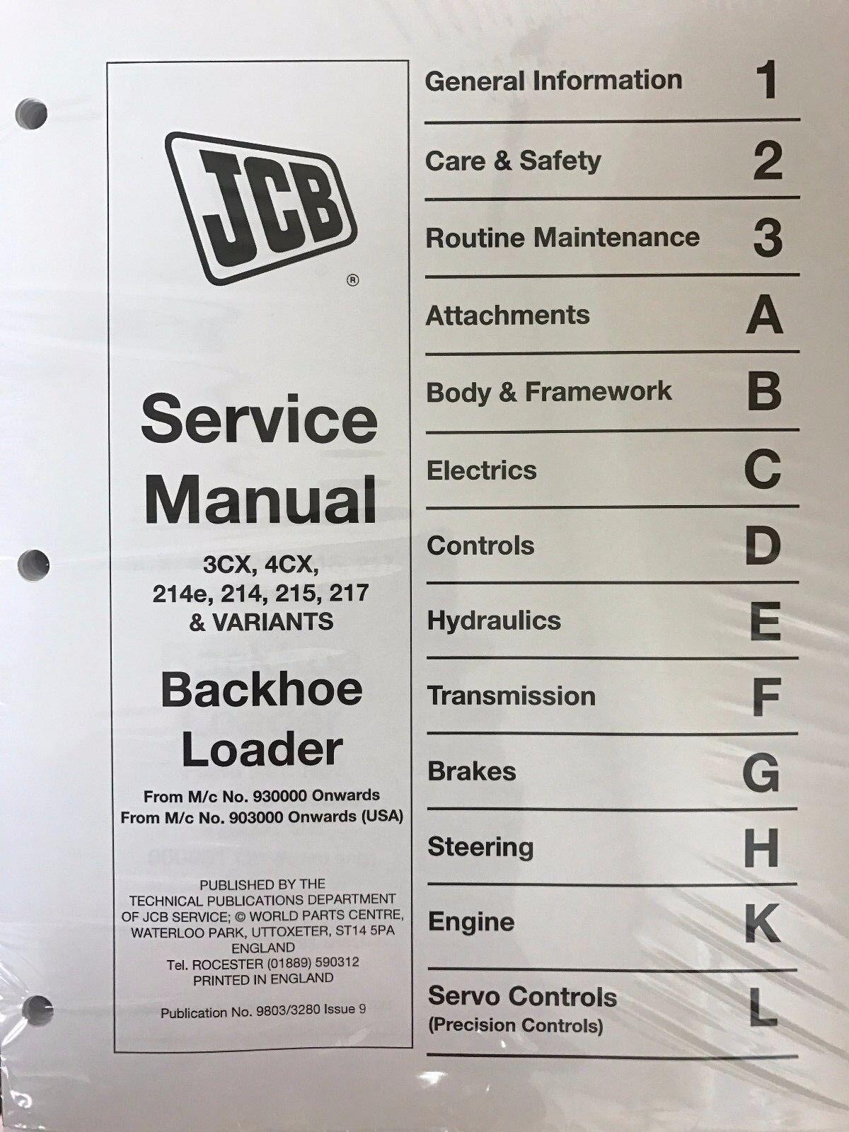 Jcb Backhoe Wiring Diagram 1994 Trusted Diagrams 214 Loader Services U2022 Manual