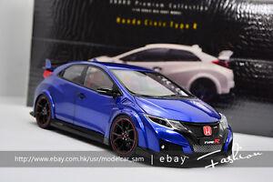 Blue Honda Civic >> Details About Ebbro 1 18 Honda Civic Type R Blue