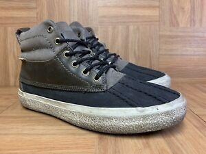 RARE-VANS-California-Chukka-Del-Pato-CA-Duck-Chukka-Boots-Leather-Sz-7-Gray