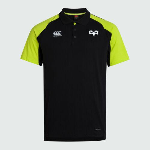 Canterbury Mens Ospreys 2019 20 Performance Cotton Rugby Polo Shirt Black