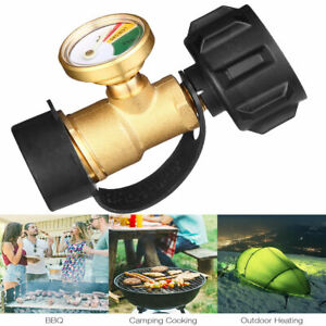 Propane-Tank-Brass-Adapter-Pressure-Meter-Gauge-4-Master-LP-Gas-Grill-BBQ-RV-USA