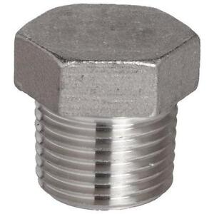 Stainless Steel 316 Cast Pipe Fitting, Hex Head Plug ...