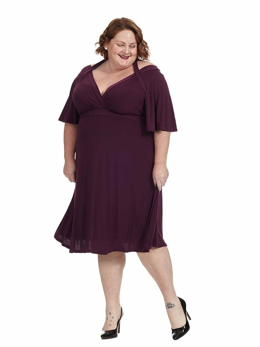 3cbd1cd01deb2 New kiyonna for lane pretty plum starlet dress 1x 14 16 bryant in  ovgzwm3137-Dresses