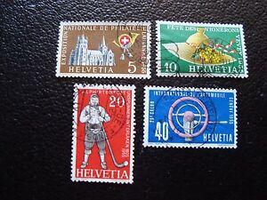 Switzerland-Stamp-Yvert-and-Tellier-N-558-A-561-Obl-L1-Stamp-Switzerland