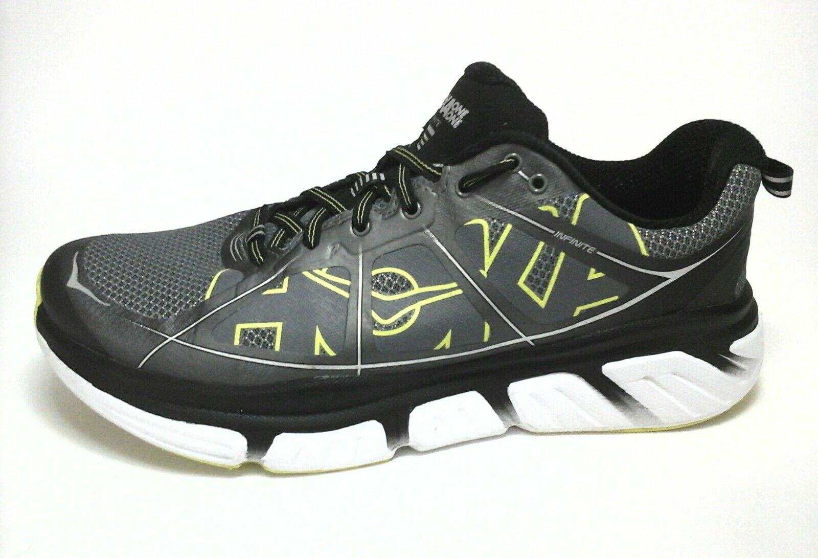 more photos d31fe 6ff05 ... HOKA ONE ONE Shoes Shoes Shoes Gray Black INFINITE Sneakers Running  Men s US 10  120 ...