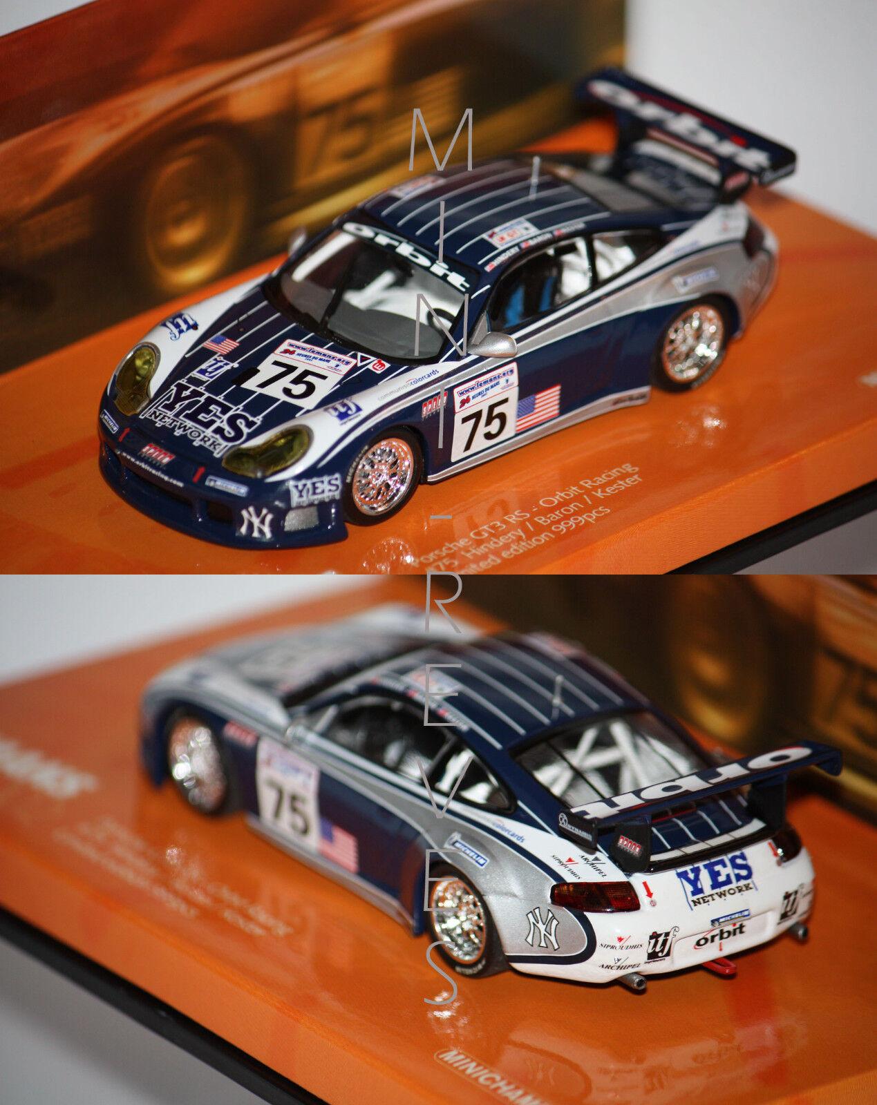 toma Minichamps Minichamps Minichamps Porsche 911 Gt3 Rs 24h de Mans 2002 1 43 403026975  suministro directo de los fabricantes