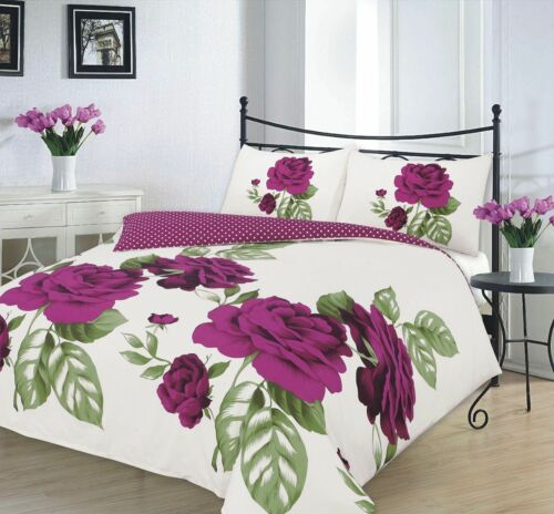 Complete Duvet Cover set  With Valance Pillowcases Single Double King Size Bed