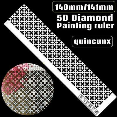 UK Stainless Steel Diamond Painting Ruler for DIY Sewing Embroidery Accessories