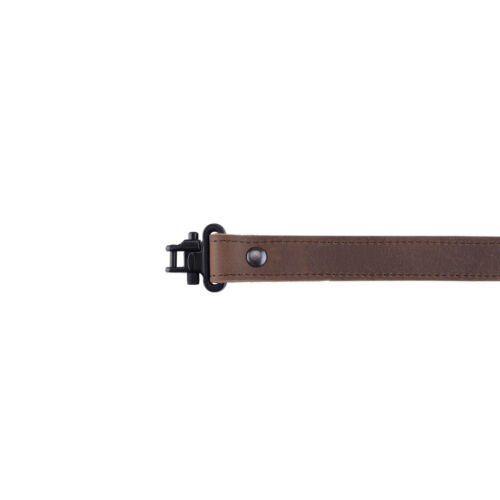 """Buffalo Leather Rifle Gun Sling Crazy Horse Brown for hunting 1/"""" wide"""