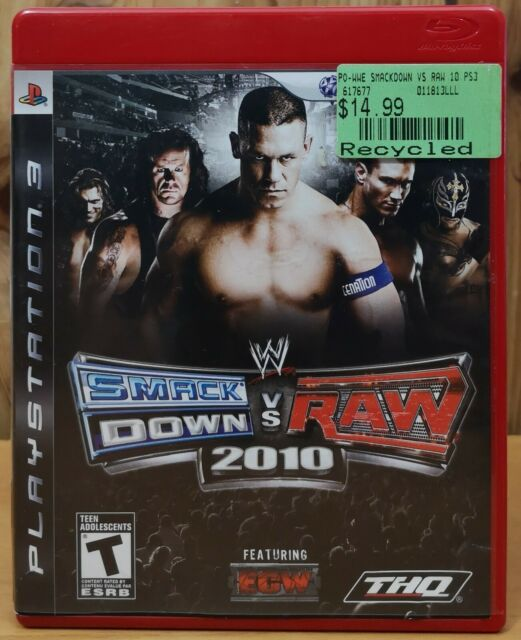 WWE SmackDown Vs. Raw 2010 (Playstation 3, ps3, 2010, THQ) *Complete T
