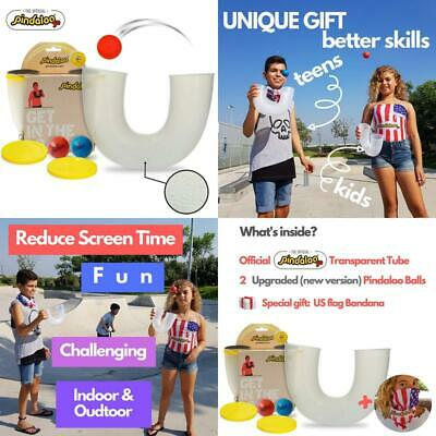 kids and adults Exciting Juggling props for beginners and Pro An extremely fun activity to Improve and Develop Skills Transparent Indoor and Outdoor Pindaloo +2 balls 2019 unique gift for teens