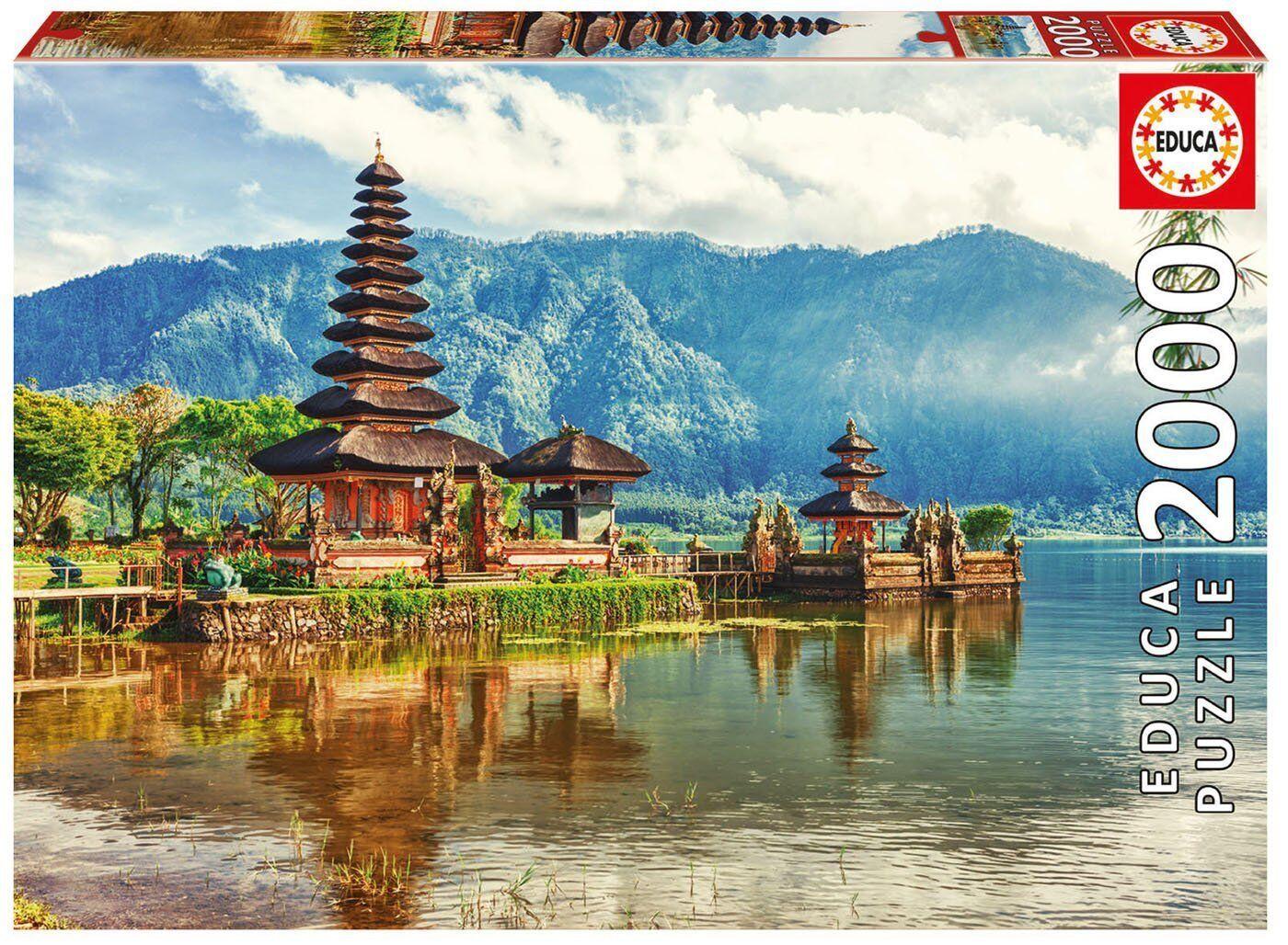 Educa 17674. Temple Ulun Danu, Bali, Indonesia. Puzzle of 2000 parts. 96x68cm
