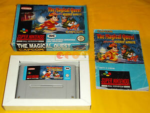 Details about The Magical Quest starring Mickey Mouse Super Nintendo SNES  Italian ○○ Complete- show original title