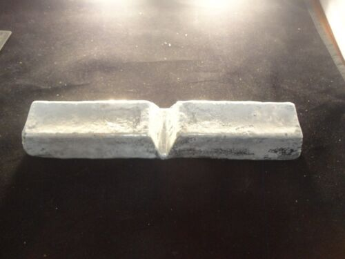 NOT STAMPED-CAST INGOT 2 POUND ALUMINUM BAR MADE IN USA 95 /% PURE // 2 LBs