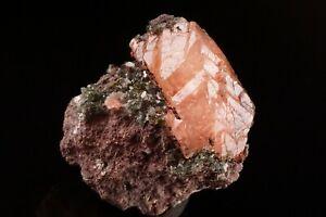 SUPERB-Copper-Included-Calcite-Crystal-amp-Epidote-HANCOCK-MICHIGAN-Ex-Robertson