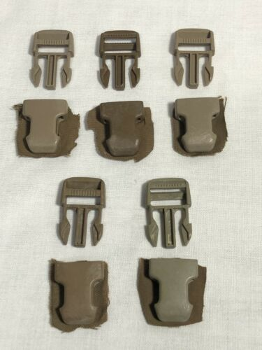 "SURFACE MOUNT REPAIR REPLACEMENT BUCKLES 5 SETS 1/"" COYOTE USMC US MILITARY FILBE"