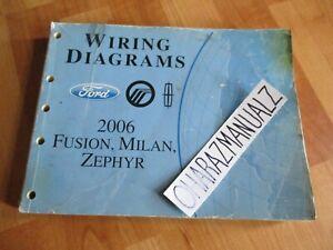 2006 FORD Fusion Mercury Milan Lincoln Zephyr Wiring ...