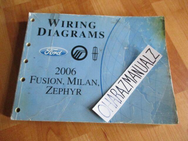 Diagram  2006 Ford Fusion Mercury Milan Lincoln Zephyr