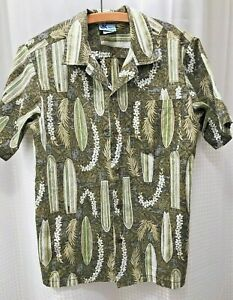Vintage-RJC-Long-Board-Surf-Green-Medium-Men-Aloha-Friday-Hawaiian-Shirt-S-S-USA