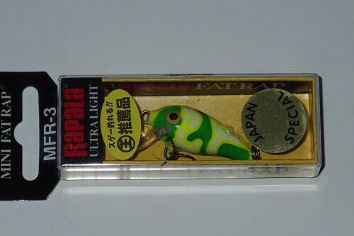 Rapala MFR 3 Chartreuse Camo Mini Fat Rap Japan Special CMCH