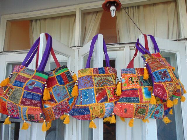 10 pcs Indian Vintage Patchwork Hand Bag Handmade Tote Gypsy Coin Shoulder Bag