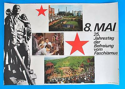 Aufrichtig Ddr Plakat Poster 1326 | 8. Mai 1970 25. Jt Der Befreiung | 81 X 58 Cm Original 100% Original