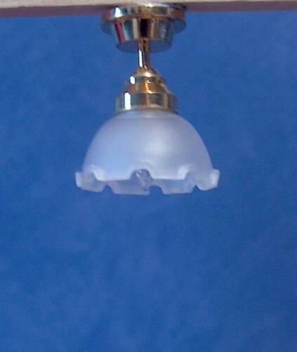 1//12 casa de muñecas en miniatura de trabajo luz de techo Lámpara de Iluminación Floral Hall lgw
