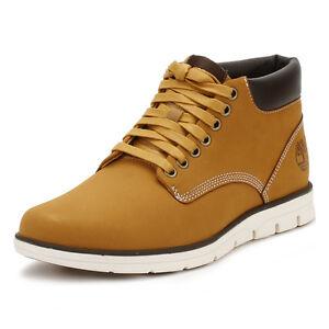 giallo di stringate pelle color in Scarpe Boots Mens Timberlands grano Bradstreet Chukka x6Uqw7Snv