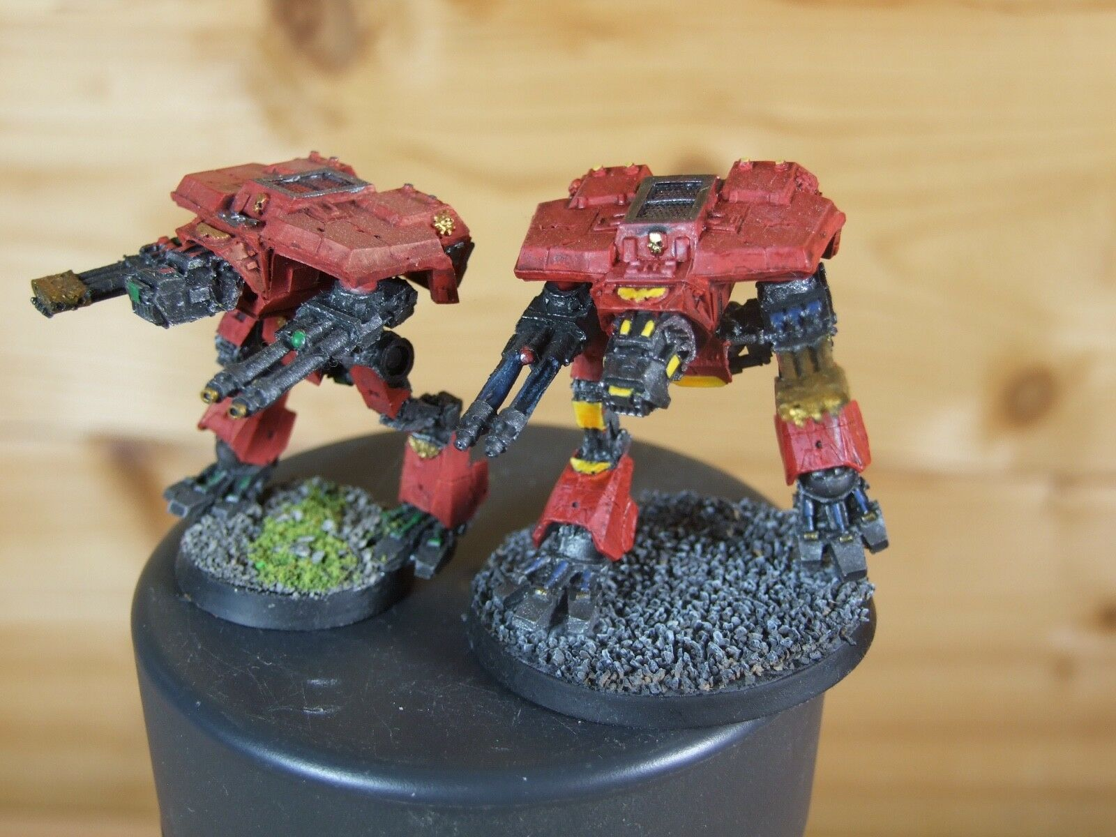 2 2 2 FORGEWORLD EPIC WARHOUND TITANS PAINTED (018) f6d939