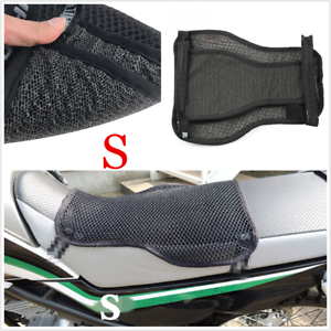 2-Layer Non-slip Motorcycle Cushion Comfort Seat Cover Sunscreen Pad Black S