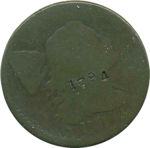 1794 LARGE CENT 1C LIBERTY CAP (DETAILS COUNTERSTAMP) OBV'1794' REVERSE 'X'