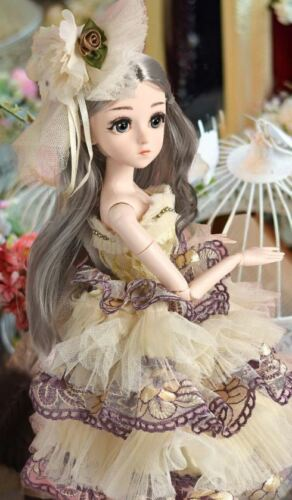BJD Doll,1//4 SD Dolls 18 Ball Jointed Dolls with Clothes Outfit Shoes Wig Hair