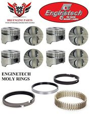 Ford Mercury 289 302 Enginetech Flat Top Pistons With Premium Moly Rings 64 85