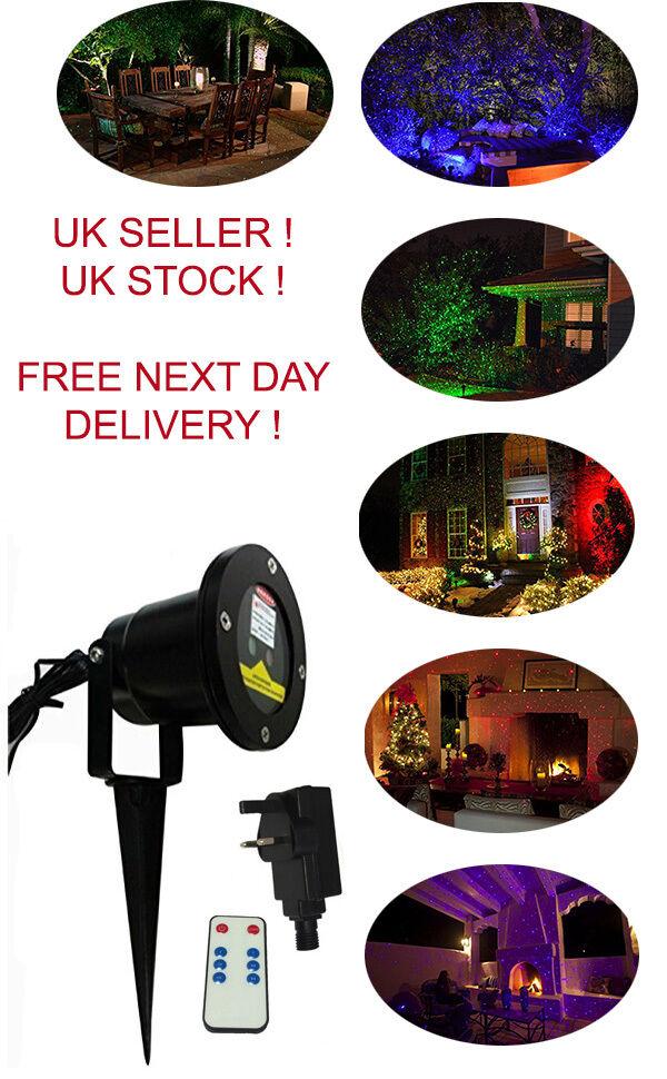 Paisaje Láser LED impermeable de Navidad Holográfico Proyector Exterior Interior