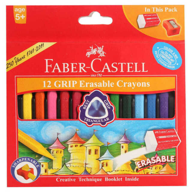 kids colors for drawing faber castell 12 grip erasable