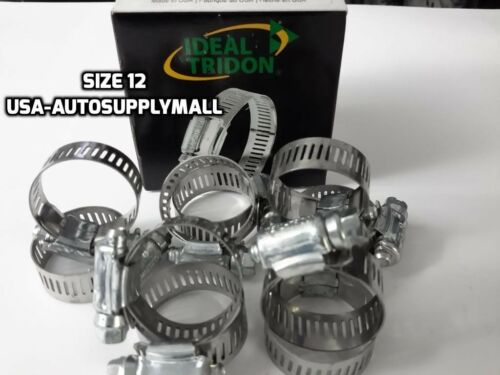 """, Made in USA 52120 1//2/"""" to 1 1//4/"""" 13 to 32mm 30Pcs IDEAL Hose Clamps Size #12"""