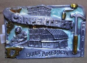 Vtg 1983 Siskiyou Buckle Co Inc Carpenter/'s Built America Buckle