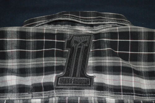 Nero Davidson Bottoni Camicia Blu Da Uomo Champion Coi Barra Harley Raro Bianco qwPtazfq