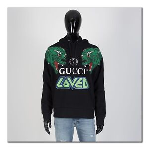 GUCCI-1400-Hooded-Sweatshirt-With-Tiger-Print-In-Black-Cotton