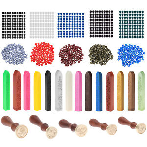 1//100pcs Sealing Wax Beads//Stick For Seal Stamp Wedding Envelope Invitation Card